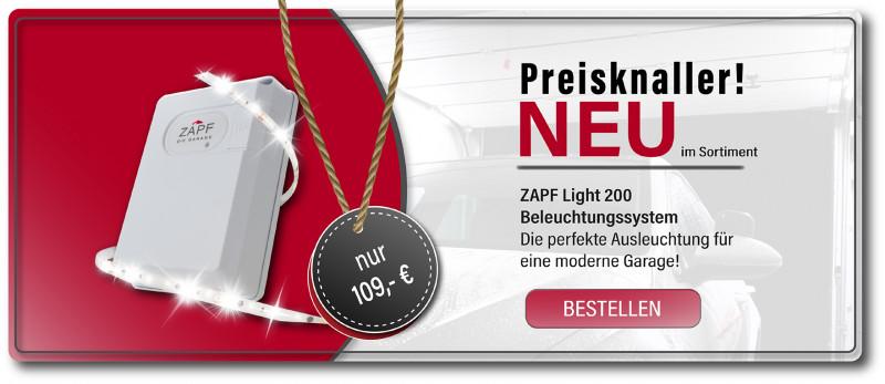 ZAPF Light 200 - Beleuchtungs-LED für die Garage